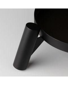 Support pour pieds en bois Noir